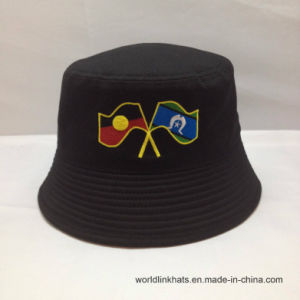1d923c8432247b China Cheap Custom Flag Embroidery Logo Short Brim Bucket Hat Cap ...