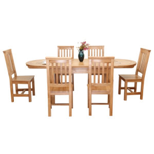 Solid Wood Oak Furniture-Natural Color Dining Table and Chair