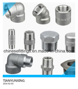 ANSI B16.11 Forged Stainless Steel Pipe Fittings pictures & photos