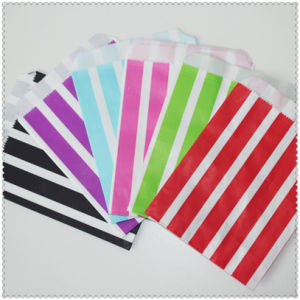 Eco-Friendly Colorful Striped Party Tableware Paper Bag pictures & photos