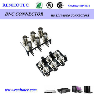Multi Port RF Connector Female BNC Connector PCB Mount for CCTV Appliance pictures & photos