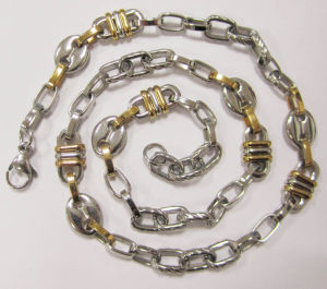 Wholesales High Quality Gold Plating 316L Stainless Steel Chain pictures & photos