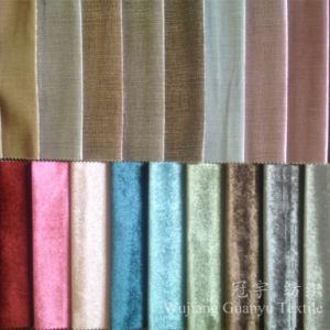 Glossy Finished Short Pile Velvet for Sofa Furniture Cloth pictures & photos