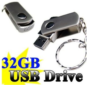 CE, FCC, RoHS Approved with Key Chain 32GB USB Flash Drive (C-05)