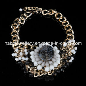 Stone Beads Flower Fashion Jewelry (XJW13601) pictures & photos
