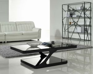 (SJ-129A) Home Furniture Modern Popular Tempered Glass Coffee Table