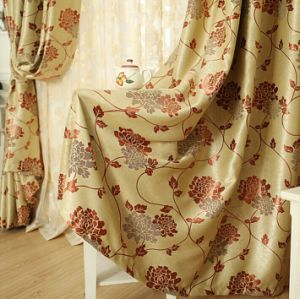 Suede Double-Faced Jacquard Cation Curtain (MM-100) pictures & photos