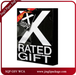 Black Shopping Gift Bags Carrier Bags Black Gift Bags pictures & photos