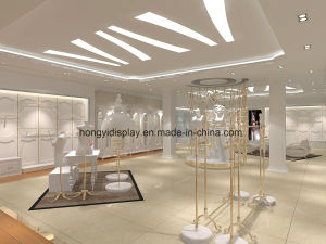 Elegant Wall Mounted Metal Garment Display Rack for Ladies Clothes Shop Design pictures & photos