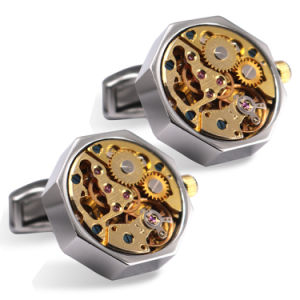 Mens Skeleton Movement Suit Shirt Cufflinks Wm-852