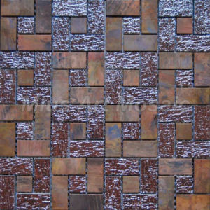 Strip Antique Copper Mosaic With Bronze