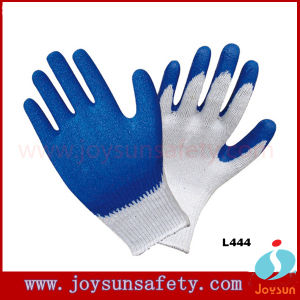10 Gauge Working Cotton Glove Tc Liner Latex Coated Gloves