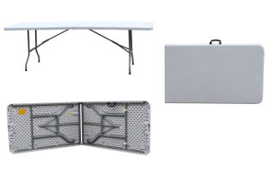 8ft Rectangle Fold in Half Table (HP-240CZ)