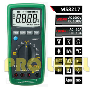 4000 Counts Autoranging Digital Multimeter (MS8217) pictures & photos