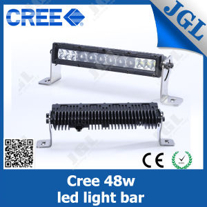 48W Single Row Optic Lenses LED Light Bar
