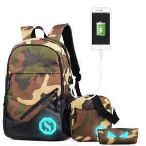Luminous Backpack Bag with USB Port