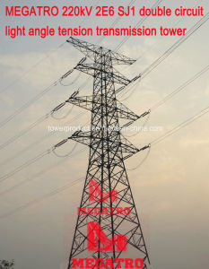 Megatro 220kv 2e6 Sj1 Double Circuit Light Angle Tension Transmission Tower pictures & photos