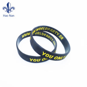 Hot Selling Fashion Custom Printing Silicone Wristband pictures & photos