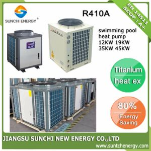Swimming Pool Thermostat 25~300cube Meter Water 32deg. C 12kw/19kw/35kw/70kw Cop4.62 Titanium Tube Eco Energy Saving Pool Pump pictures & photos