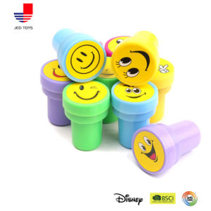 Self-Ink Plastic Assorted Emoji Stamps for Kids