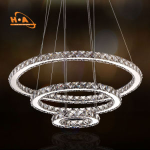 Wholesale Three Rings Crystal Hanging Fancy Chandelier