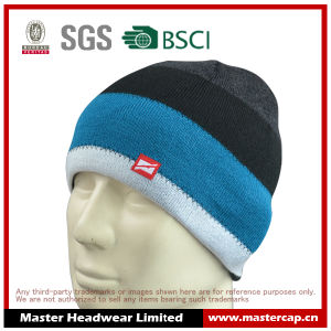 Knitted Hat Acrylic Beanie with Label
