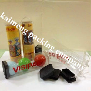 Silk Printed Clear Plastic PVC Tubes for Balls Package (PVC tube)