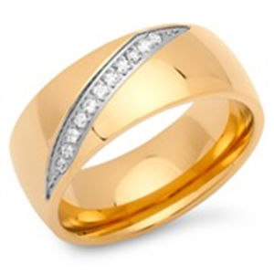 Gold Plated CNC Stone Setting Rings pictures & photos