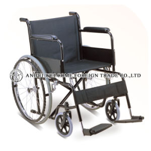 Medical Steel Folding Wheel Chair with Ce and ISO