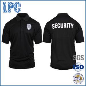 5db81009b China OEM Cotton High Quality Work Police Security Guard Polo Shirt ...