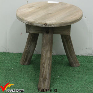 3 Leg Rustic Solid Wood Mini Coffee Table pictures & photos