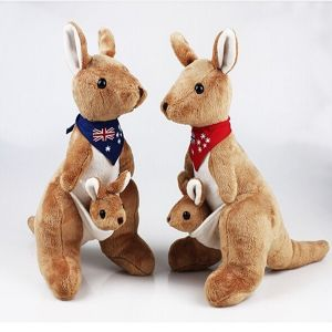 China Christmas Gifts Stuffed Animal Kangaroo Toys Kangaroo Soft