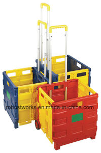 Folding Plastic Shopping Cart (FC403C-3) pictures & photos
