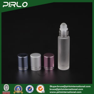 10ml Frosted Glass Roll on Bottle with Glass Roller and Metal Cap pictures & photos