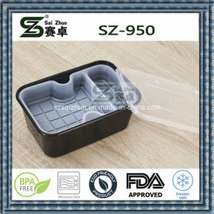 950ml Thicken Clear Disposable Plastic Food Container with Inner Tray pictures & photos