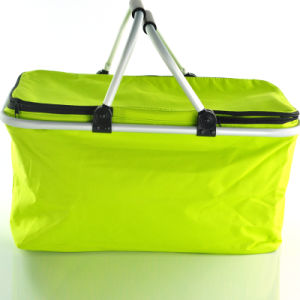 Good Quality Collapsible Picnic Shopping Basket with Aluminium Handle