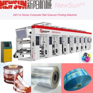 Asy-G Series Computerized Rail Aluminum Foil Rotogravure Printing Machine pictures & photos