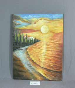 Sunset Pattern of Home Canvas Hanging Paintings