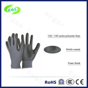 Anti-Acid Nitrile Coated Polyseter Glove pictures & photos