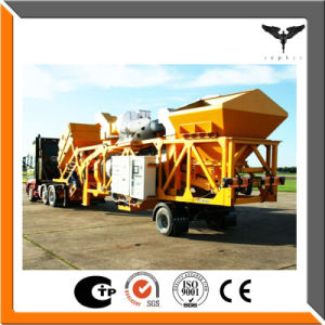 Hopper Lift Type 80t/H Mini Mobile Batching Plant pictures & photos