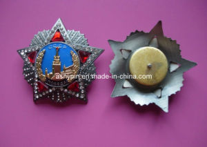 Die-Casting Metal Badge With Rhinestone (ASNY-LUB901) pictures & photos