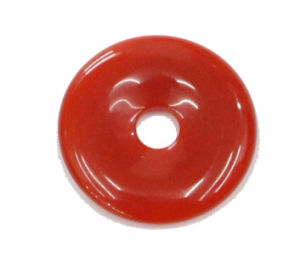 50mm Donut Red Agate Pendant