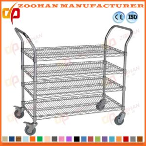 Warehouse Steel Folding Flat Cart Trolley (zhc1) pictures & photos