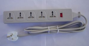 Universal Outlet Power Strip w/UK Cable
