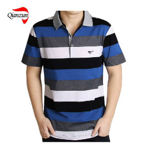Cotton Stripe Short Sleeves Polo T Shirts (ZJ-6802) pictures & photos