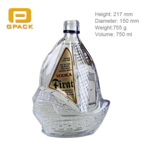 Chinese Factory Customize Various Shaped Glass Bottle for Vodka Whisky Liquor Brandy Beverage Spirit Rum Wine Alcohol