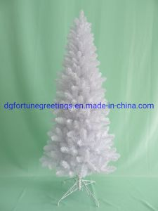 6ft Home Decoration White Pvc Artificial Christmas Gift Tree