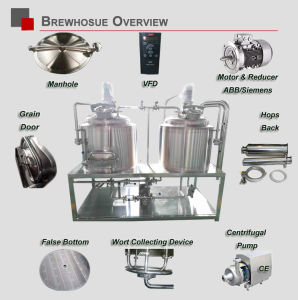 Customizable Stainless Steel Draft Beer Brewing Equipment 200L Copper Brewery Making Equipment