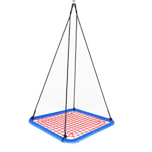 Outdoor Indoor Tree Net Swing for Kids Square Rope Swing Bed Swing Seat Children Toy
