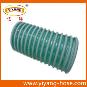 Corrugated Transparent Green Suction Hose